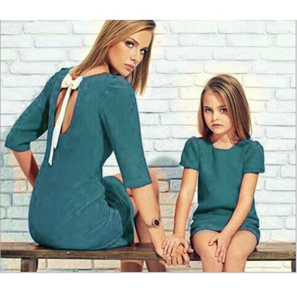 Mother Daughter Dresses Family Matching 3