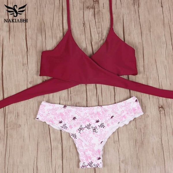 Sexy Cross Brazilian Bikinis Women Swimwear Swimsuit 6