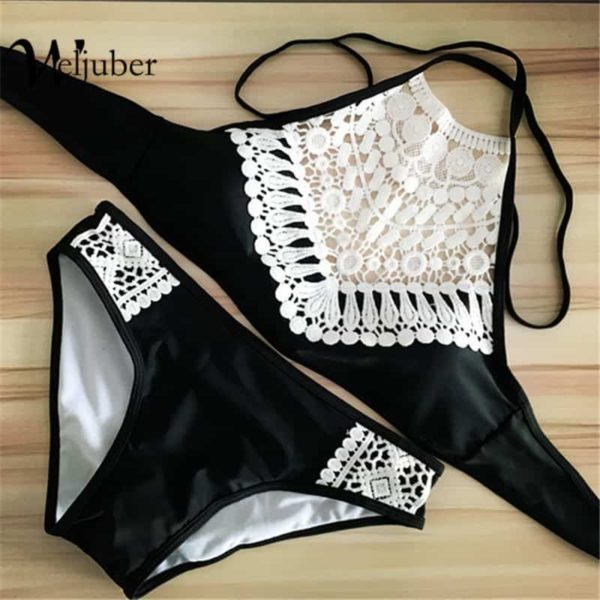 Push Up Swimwear Women Sexy Bikini Set Lace Swimsuit Beachwear 2