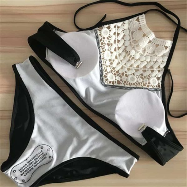 Push Up Swimwear Women Sexy Bikini Set Lace Swimsuit Beachwear 4