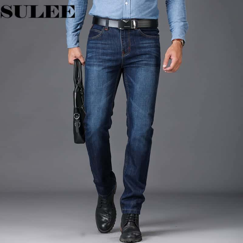 Sulee Brand European American Style Stretch Men Jeans