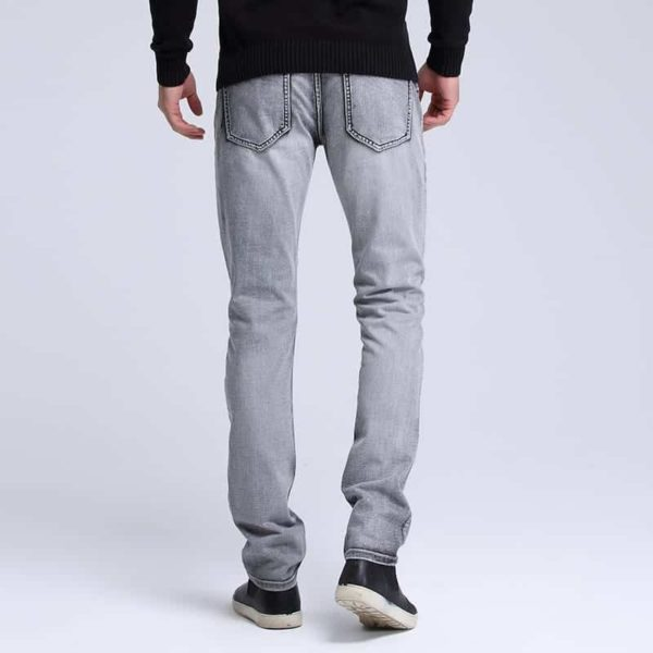 Vomint Brand Classic Mens Casual Slim Jeans Men Washed Stretch Denim Fit Loose Waist Jeans 2
