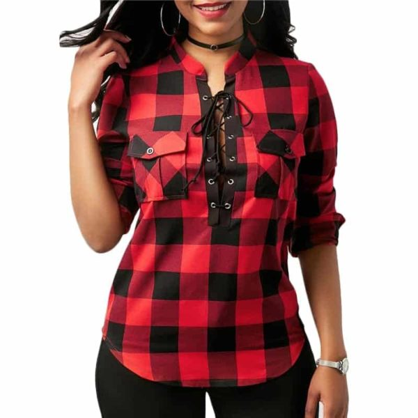 Long Sleeve Office Lady Blouses 2