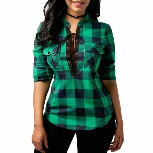 Long Sleeve Office Lady Blouses 4