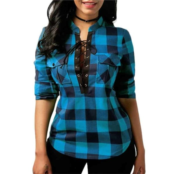Long Sleeve Office Lady Blouses