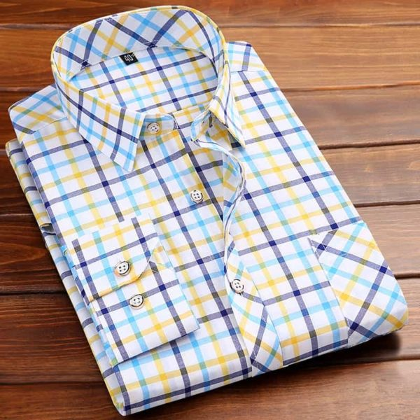 Square Neckline Shirt For Men light yellow