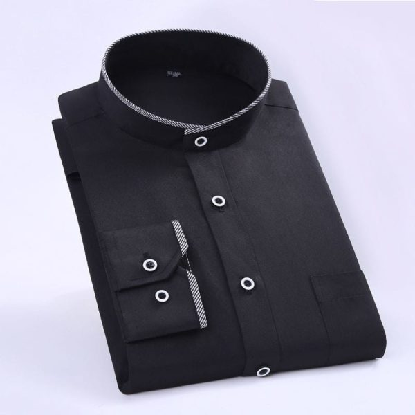 Stand Collar Long Sleeve Slim Fit 1