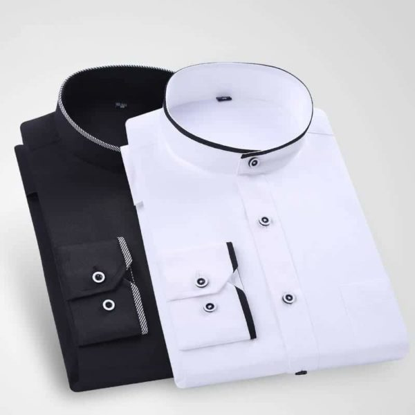 Stand Collar Long Sleeve Slim Fit 2
