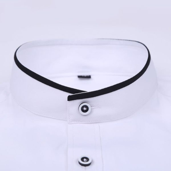 Stand Collar Long Sleeve Slim Fit 3