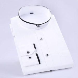 Stand Collar Long Sleeve Slim Fit