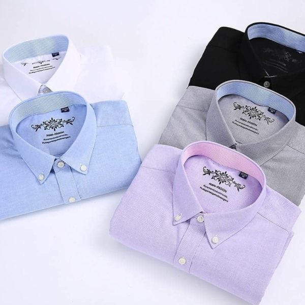 Short Sleeve Button Up Oxford Fabric colors