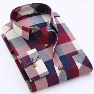 England Style Youngster Men Plaid Shirts