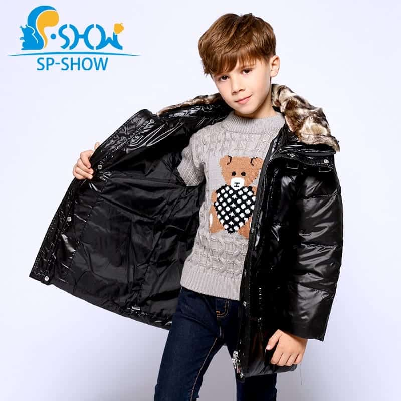 2018 Winter Children Clothing Brand Boys Down Coat Outwear Hoodwed Thick  Warm Down Coat   Parkas 5801  190383588