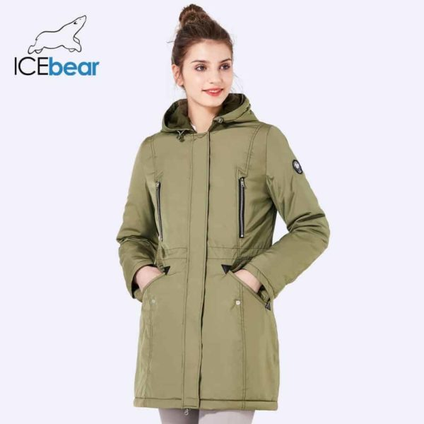 Women Long Thin Jacket With Hat Detachable 1