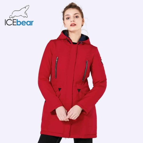 Women Long Thin Jacket With Hat Detachable
