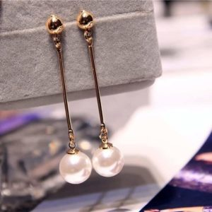 Pearl Tassel Earrings Korean Star