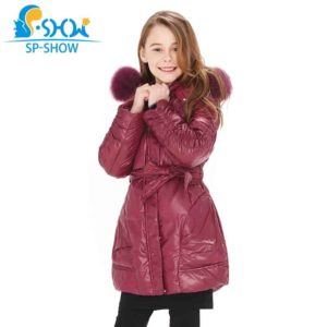SP-SHOW Girls Duck Down Long Coat