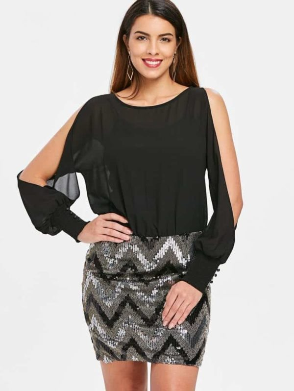 Sequined Chiffon 6