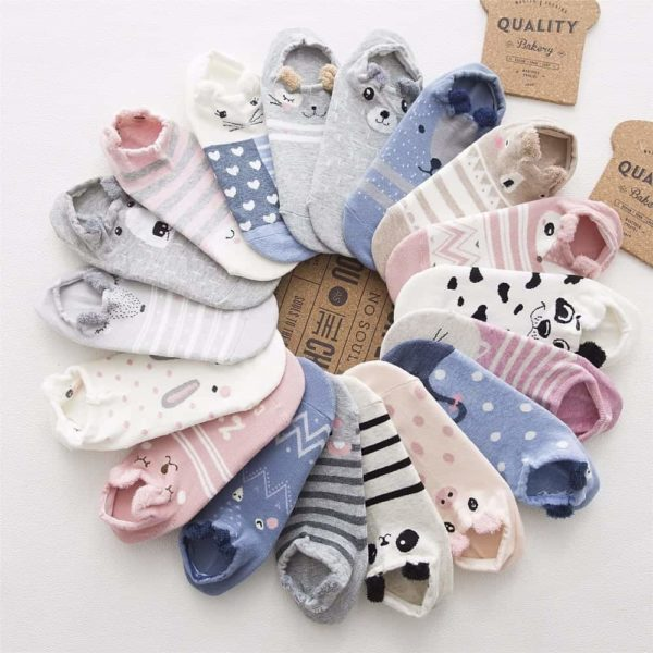 Cute Animal Cotton Socks 1