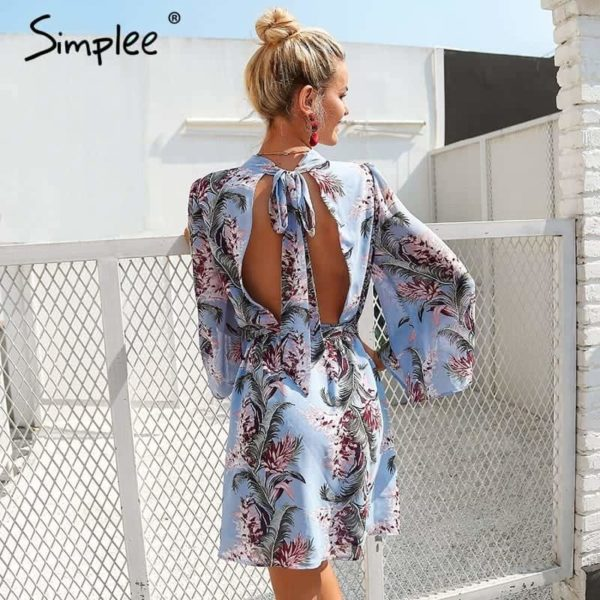 Simplee Backless Dress 2
