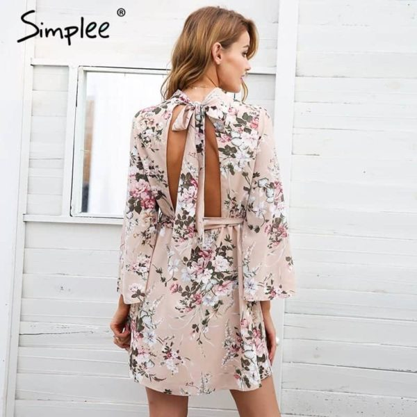 Simplee Backless Dress 4