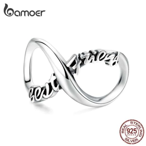 Bamoer Infinity Family Forever Clear Crystal Charm 27