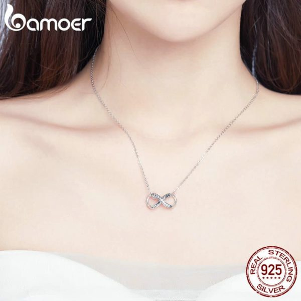 Bamoer Infinity Family Forever Clear Crystal Charm 30