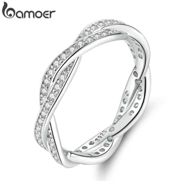 Bamoer Braided Pave Leaves 1