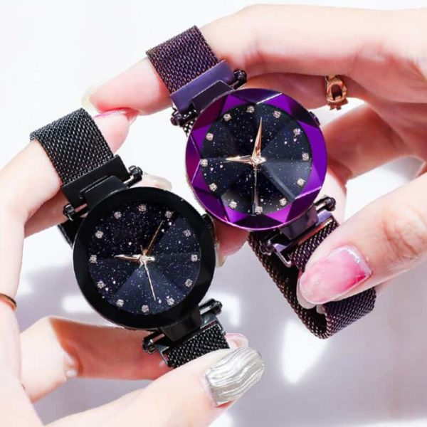 Luxury Starry Sky Stainless Steel Mesh Bracelet Watches 3