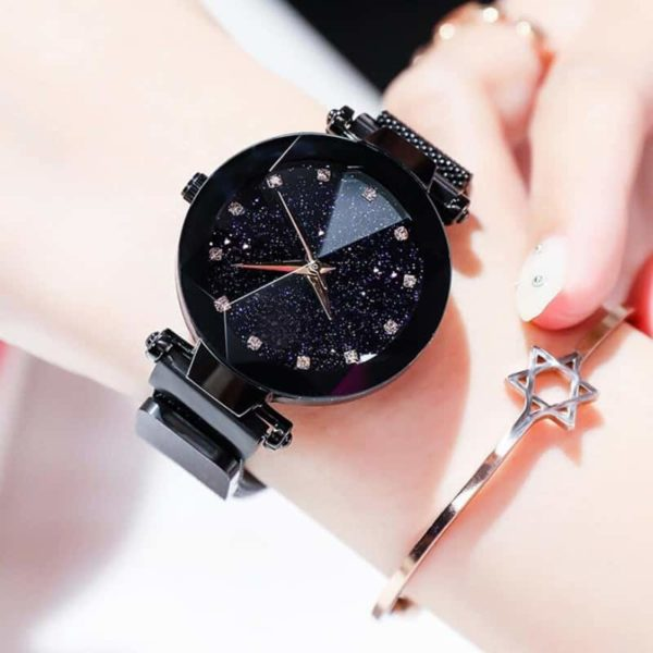 Luxury Starry Sky Stainless Steel Mesh Bracelet Watches 5