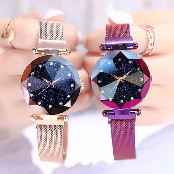 Luxury Starry Sky Stainless Steel Mesh Bracelet Watches 1