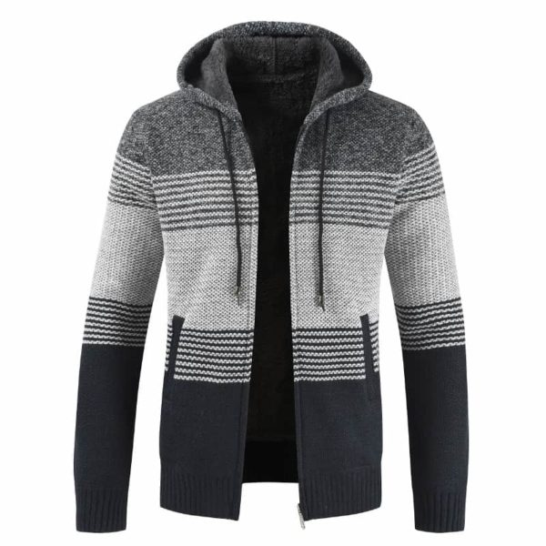 Thick Warm Hooded Cardigan Sweater 2