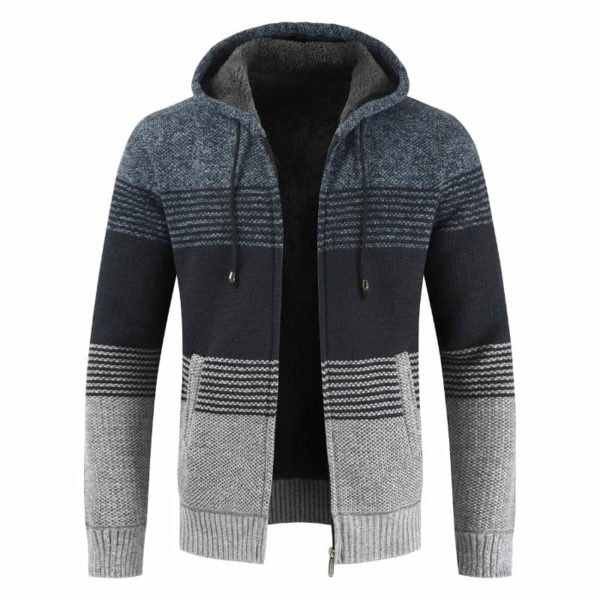 Thick Warm Hooded Cardigan Sweater 3