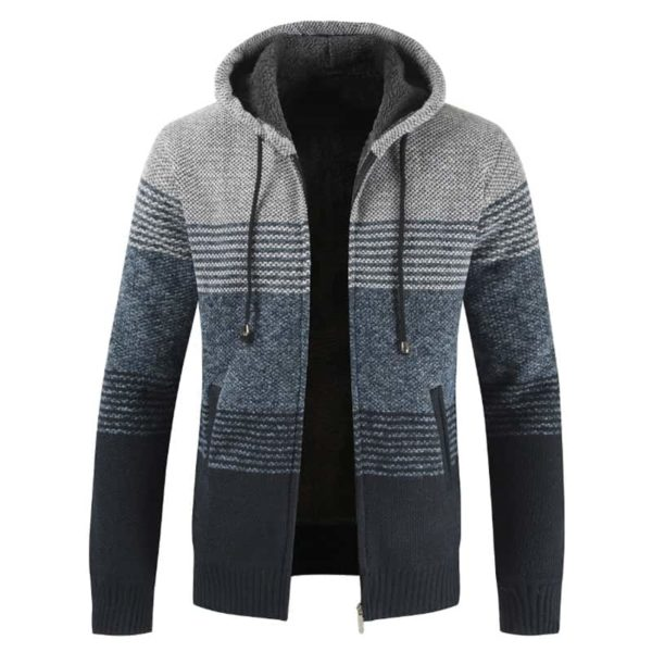 Thick Warm Hooded Cardigan Sweater 4
