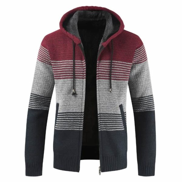 Thick Warm Hooded Cardigan Sweater 1