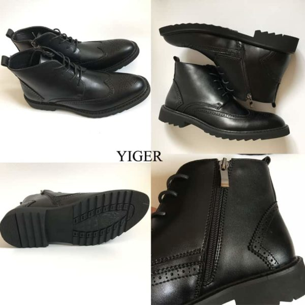 YIGER Genuine Leather Boots for Men 3