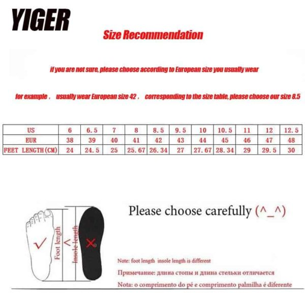 YIGER Genuine Leather Boots for Men 6